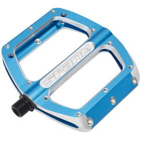 Spank Spoon Pedal L blå/silver